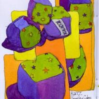 3291_Klutz-juggling-cubes-family-treasures-47-ink-watercolor-sketchbook-drawings-chris-carter-artist-113012-web-200x200