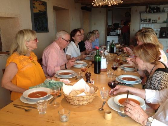 Dinner Conversation, Les Bassacs, France 2014