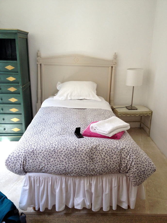 My lovely bedroom at Les Bassacs, France 2014