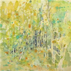 Birch Trees - watercolor