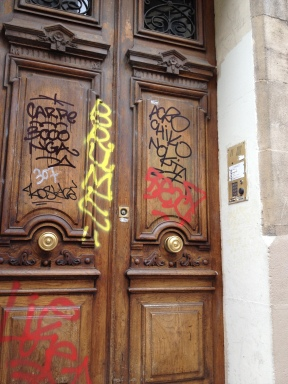 Wooden Door Graffiti, Marseille, France 2014