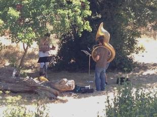 Brass Band Musicians, Les Calanques, Marseille, France 2014
