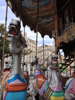 Caisse Place General de Gaulle, carousel, Marseille, France 2014