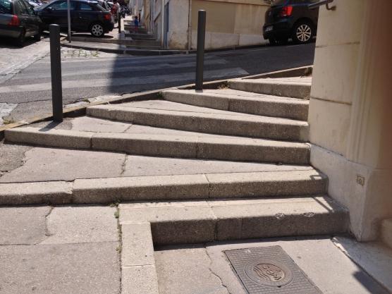Corner steps, Marseille, France 2014