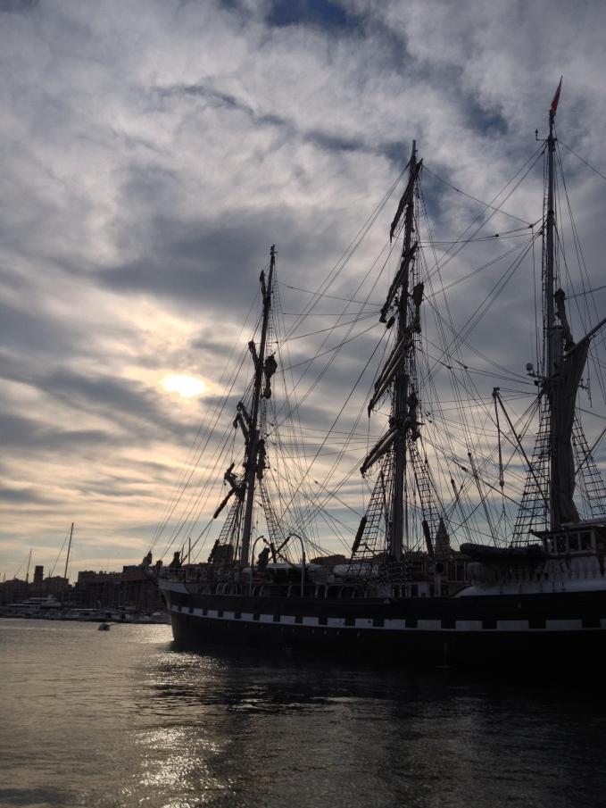 Le Belem sur la Tamise, Vieux Port, Marseille, France 2014