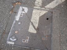 Telephone utility cover, StreetArt, Marseille, France 2014