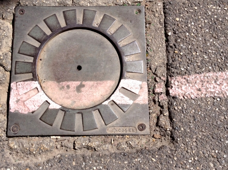 bk Marseille utilities cover pink paint chriscarterartist photograph 062914