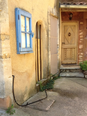 Yellow Doors and Blue Window, Roussillon, France 2014