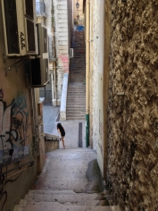 bk Stairs connecting roadways pathways Marseille France textures graffiti everywhere chriscarterartist photography 062914