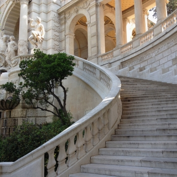 Curved Stairs, Musee des Beaux Arts, Marseille, France 2014
