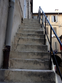 Steep Stone Steps, Hostel Vertigo B, Marseille, France 2014