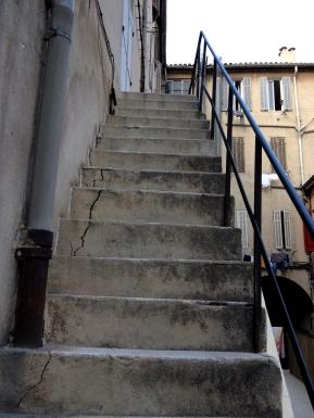 Steep Stone Steps, Hostel Vertigo B, Marseille, France 2014