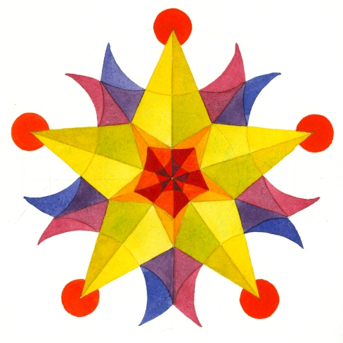 CSG-60-color-scheme-game-mandala-watercolor-pentagram-chriscarterartist-041814