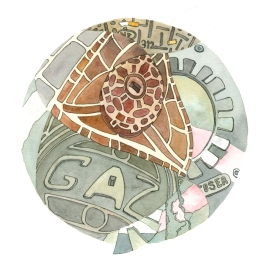 DPW utilidala-dala-art-Marseille-France-utilities-covers-ink-watercolor-chriscarterartist-100314