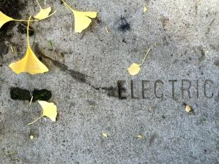 Electric - StreetArt, Mountain view, CA - Nov 2014