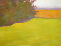 """Field and Trees, Anthony Road, Lebanon Township, NJ - oil on canvas 30"""" x 40"""" July 2008"""