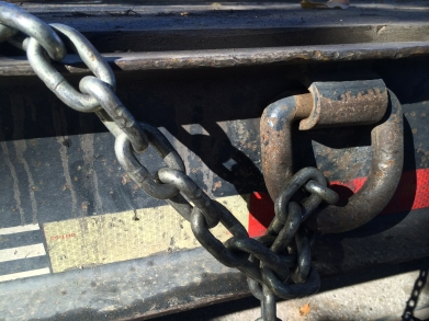 photograph - Chains on a flatbed truck, Mountain View, CA - November 2014