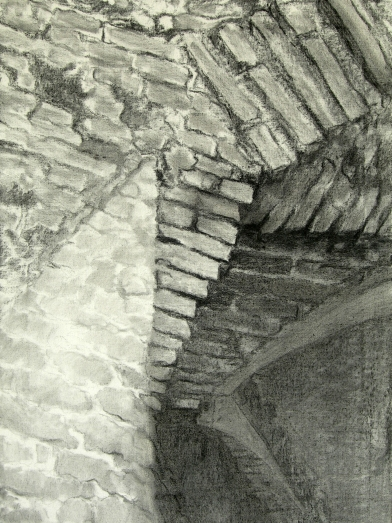 Gaudi-ceiling-Barcelona-01-preliminary-charcoal-sketch-chris-carter-architecture