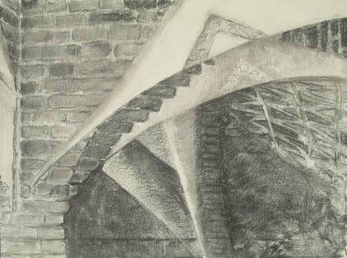Gaudi-ceiling-Barcelona-02-preliminary-charcoal-sketch-chris-carter-architecture