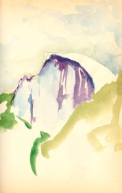 Half Dome, Yosemite - watercolor sketchbook drawing 1977