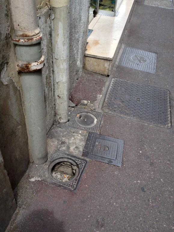Plumbing Drainpipes, Marseille, France 2014