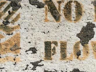 No Flow - Sidewalk Art, Mountain View, CA - Nov 2014
