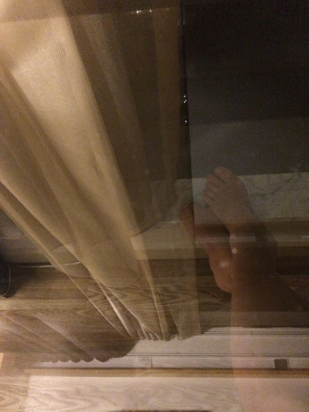 NYC self portrait at window photography chriscarterartist 091314 full