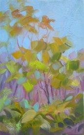 Trees - en plein air oil painting, NJ - April 2012