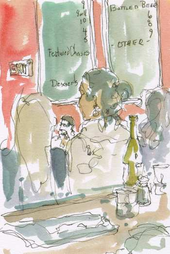 portcityblue-portland-maine-listening-to-marc-chillemi-jazz-quintet-ink-watercolor-live-paintings-chris-carter-artist-031613