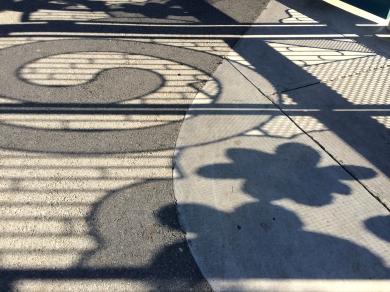 Rengstorff Park Shadows, StreetArt Mountain View, CA - Nov 2014