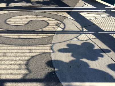 Rengstorff Park Shadows, StreetArt Mountain View, CA - Nov 2014