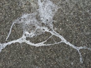 Sidewalk Splatter - StreetArt, Mountain view, CA - Nov 2014