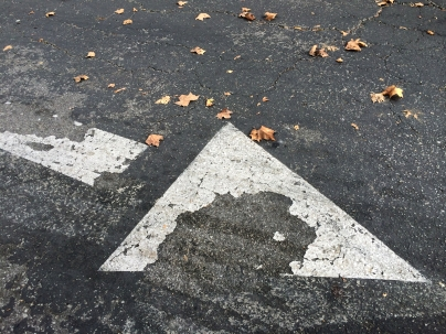 Painted Arrow - StreetArt, Mountain View, CA - Nov 2014