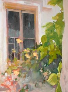 """Villeneuve, France - oil painting 40"""" x 30"""" (detail) 2010"""