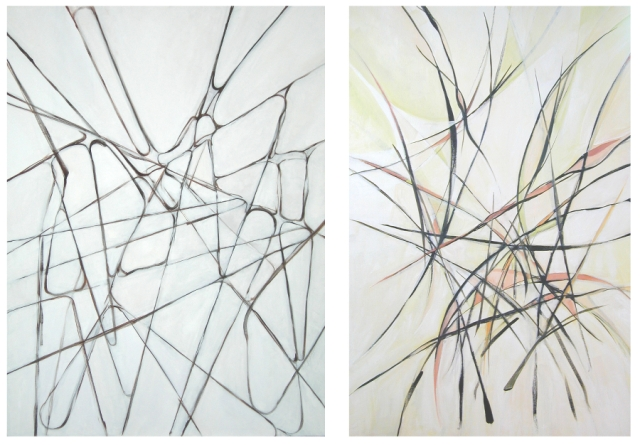 Vieira da Silva inspired paintings ChrisCarterArtist 900